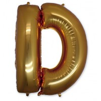 Фольгированная Буква D золото (102 см)